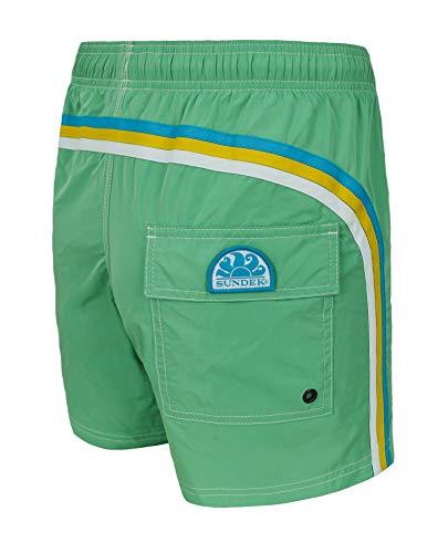 SUNDEK - Costume da Bagno da Uomo Verde Paradiso. XX-Large