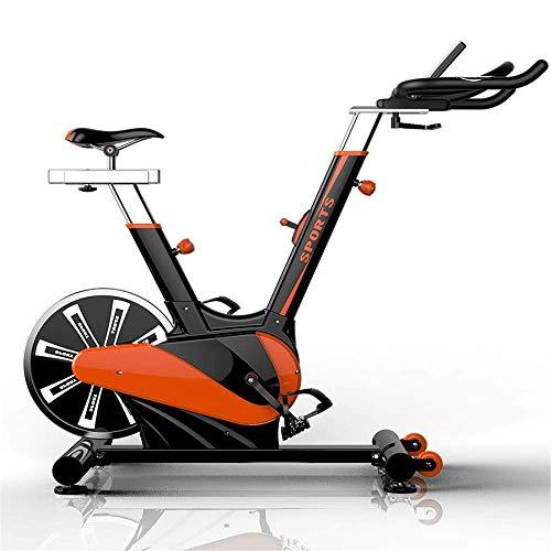 Bicicleta de spinning for trabajo pesado 11KG volante aeróbico Estudio de Formación de bicicletas Bicicleta de ejercicio Gimnasio Bicicleta Inicio de la aptitud Ejercicio de bicicletas (Color: Naranja