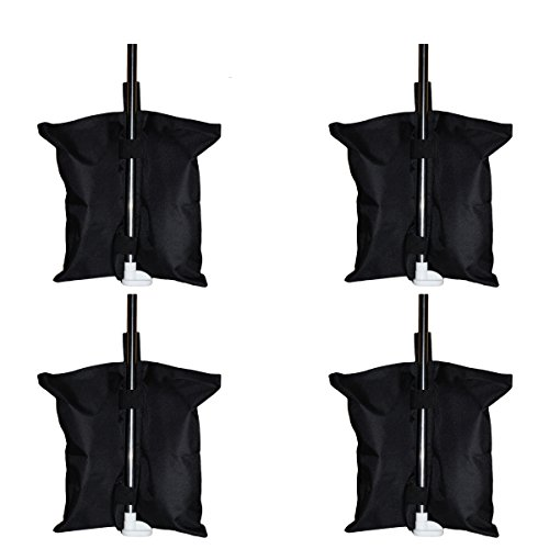 CELEISITE 4pcs/Pack Industrial Grade Heavy Duty Double-Stitched 17-inch Sand Bag Anchor Kit Gazebo Tent Leg Weight Bag for Pop up Canopy Tent Weighted Feet Bag (4 Pack sandbag)
