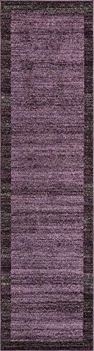 Unique Loom Del Mar Collection Contemporary Transitional Violet Runner Rug (2' 7 x 10' 0)