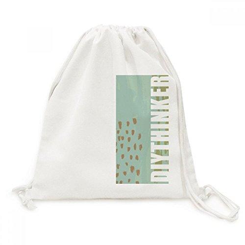 DIYthinker Matcha Abstrakte Pflanzen Kunst Muster-Leinwand-Rucksack-Reise Einkaufstaschen