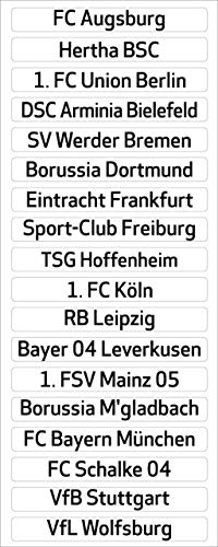 Am Ball Com 1. Bundesliga Magnettabelle - Clubnamen (Saison 2020-2021)