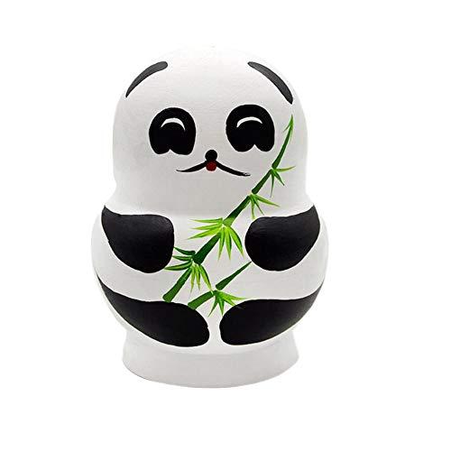 Neue 10 Stück/Set Kreative Schöne Panda Nesting Dolls Russische Puppen Handgemachte Bemalte Buche Matroschka Puppe Set Spielzeug