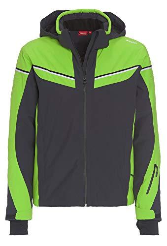 Vittorio Rossi Sportive Herren Ski-Jacke mit Abnehmbarer Kapuze hellgrün,58