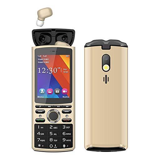 Teléfonos de tonos, teléfonos móviles con auriculares Bluetooth, teléfonos con barra, teléfonos móviles para personas mayores, teléfonos móviles con pantalla grande adecuados para personas mayores y