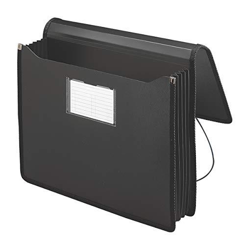 """Smead Premium Poly Premium Wallet with Closure, 5-1/4"""" Expansion, Letter Size, Black (71500)"""