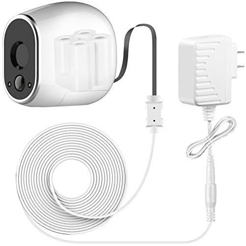 Sumind Adapter and 20 ft/ 6 m Outdoor Weatherproof Power Cable Compatible with Arlo, Replace The Arlo Batteries (CR123A) to Continuously Operate, Not Compatible with Arlo Pro and Arlo 2 (White)