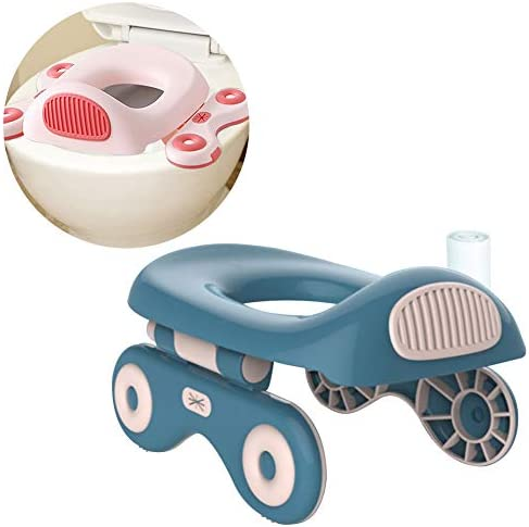 2 in 1 Travel Potty Trainer Ring for Toddler Kids and Reusable Hard Liner for Home Use Portable product image