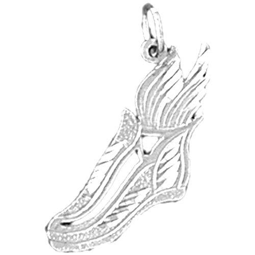 Jewels Obsession Colgante de plata de ley 925 para zapatillas de correr, 25 mm