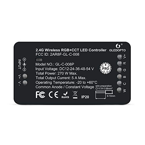 Zigbee Controller PRO Version ZigBee 3.0 RGBCCT LED Strip Controller Pro Smart APP Voice Control Compatible with SmartThings RF Remote
