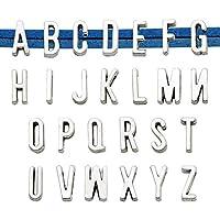 OBSEDE イニシャル アルファベットチャーム 大文字 ジュエリー作り クラフト バリューパック 卸売 9BNMUS42KG17WVBK100PL7II
