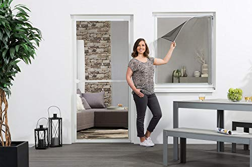 empasa Fliegengitter Fenster Insektenschutz 'EASY', Magnet - 130 x 150 cm, 100 x 120 cm - weiß