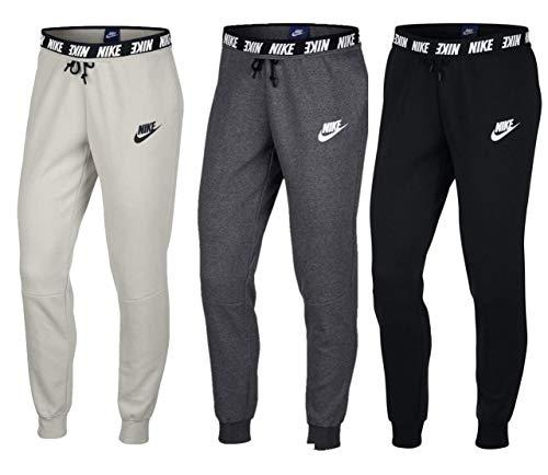 Nike–Felpa con Cappuccio Advance 15Pants Pantaloni, Donna, Damen Sportswear Advance 15 Pants, Charcoal Heathr/Whit, L