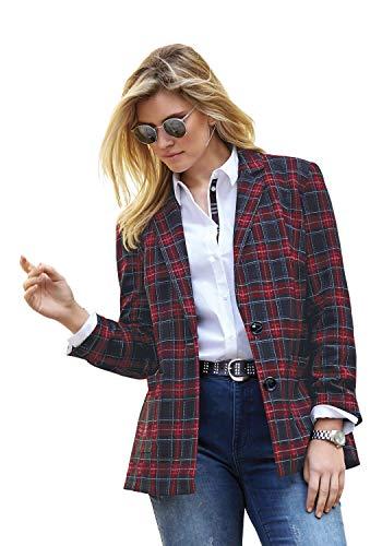 ANNA AURA Damen Jersey-Blazer mit Reverskragen