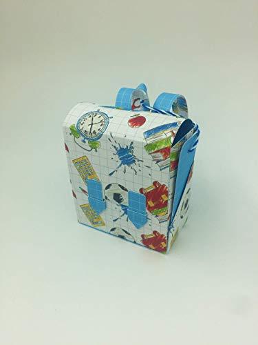 Mini-Schulranzen als Geschenkverpackung und Grußkarte