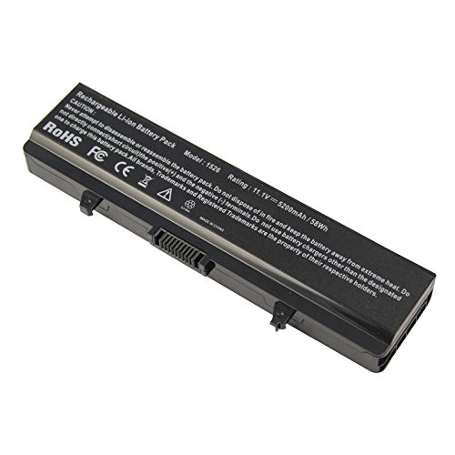 ARyee 5200mAh Laptop Battery for Dell Inspiron 1525 1526 1545 1546 1440 1750 GW240 RN873 M911G K450 HP297 X284G J399N XR693 WK371