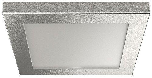 Meubel-opbouwlamp vierkant zilver LED verzonken lamp 2051 | Meubellamp warmwit 3000 K - 12 V | Inbouwlamp met 6 LED's | Energie-efficiëntieklasse A+ | Meubelbeslag van GedoTec® kaltweiß 4000 K Alu Silber Eloxiert