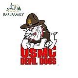 A/X Sticker de Carro 13cm x 9.4cm Nosotros Marine USMC Devil Dogs Etiquetas engomadas del Coche Scra...