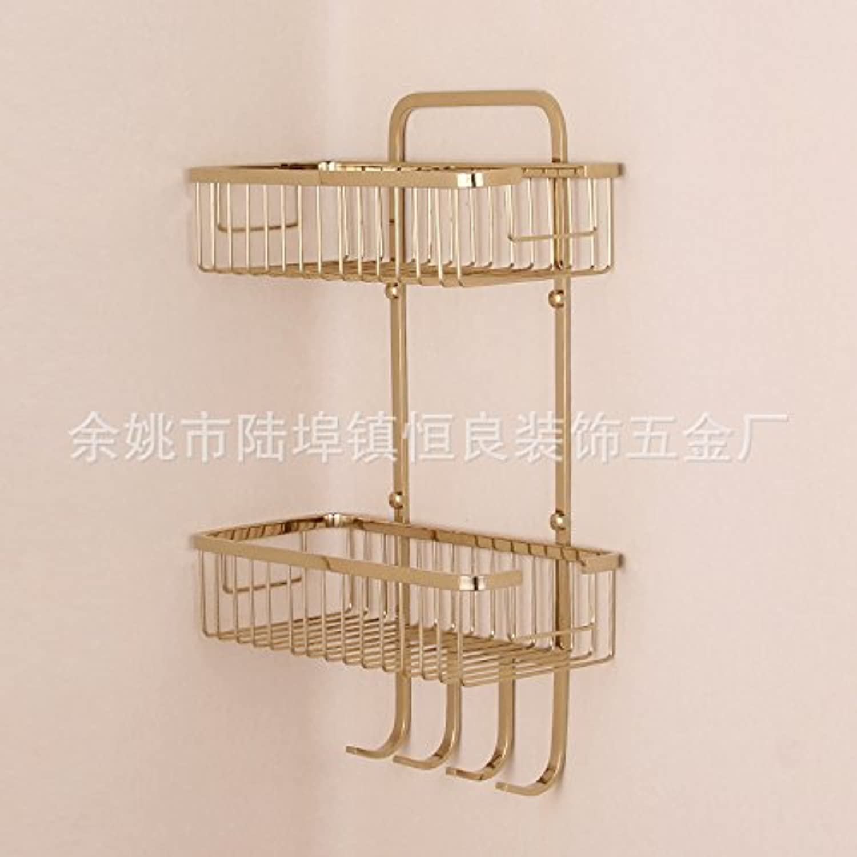 Stainless steel racks zircon gold double multifunctional rack