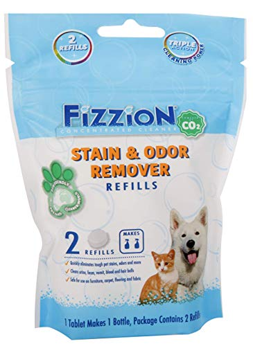 Fizzion Pet Stain & Odor Remover Refill Tablets 2-Pack (Makes 46oz)