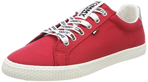 Tommy Hilfiger Tommy Jeans Casual Sneaker, Zapatillas para Mujer, Rojo (Tango Red 611), 40 EU