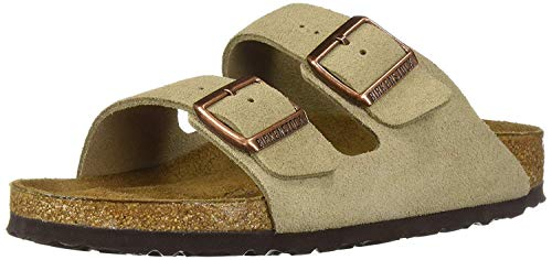 Birkenstock Unisex Arizona Taupe Suede Soft Foot Bed Sandals - 36 N EU / 5-5.5 2A(N) US