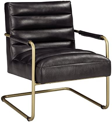 Best Signature Design by Ashley - Hackley Accent Chair - Urban Style - Black/Gold