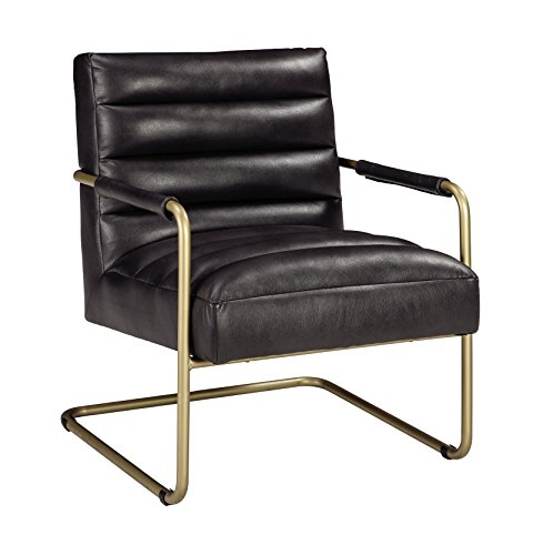 Signature Design by Ashley - Hackley Accent Chair - Urban Style - Black/Gold