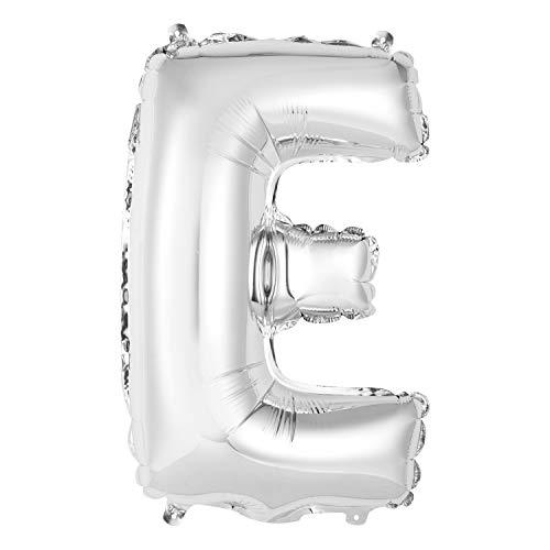 Globo de letras de aluminio – 35 cm – Letra E Globo – Plata