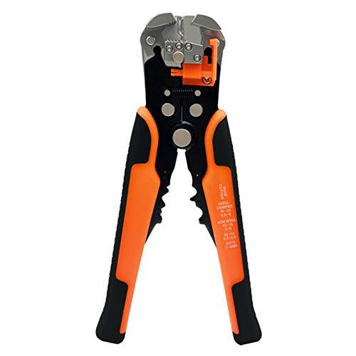 Alicates Para Prensar Cables Crimper cortador de cable pelacables automático multifuncional Stripping herramientas Alicates Terminal 0.2-6.0mm2 (Color : WX D4 Orange)