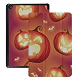 Carcasa Fire HD 8 Kids Ghost Pumpkins en Halloween Carcasa Fire HD Kindle 8 (Lanzamiento 2018 2017 2016, 8a / 7a / 6a Generación) con Auto Wake/Sleep