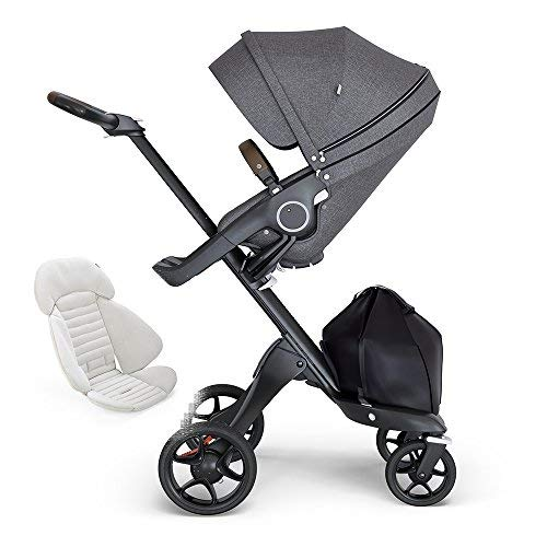 Review Of Stokke Xplory Black Chassis, Seat - Black Melange/Brown Leatherette Handle & Seat Inlay - ...