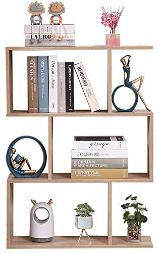 Etnicart - Librería Estante Roble Oficina Moderno Contemporáneo Divisor de Madera de Doble Cara Home Day 70x23.5x96 Estantes Independientes Estantes Cubos Diseño de Pared Entrada Sala de Estar