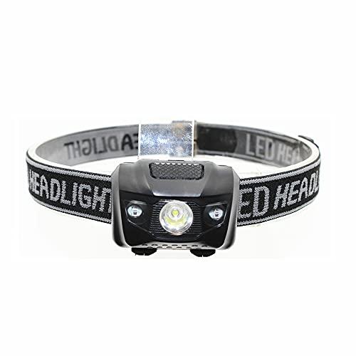 FENGNANMY Linterna Frontal Faro LED 4 Modos Lámpara de Cabeza Lámpara de Cabeza Linterna 3 * AAA Potencia de batería Blanco/Luz roja para Pesca de Senderismo al Aire Libre