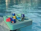 BEAT THE HEAT: Party with your friends and family with this highly functional multi-capacity floating refreshment tray for food and beverages while you enjoy in pools, beaches, sandbars and amusement parks HIGH-GRADE QUALITY: This floating cup holder...