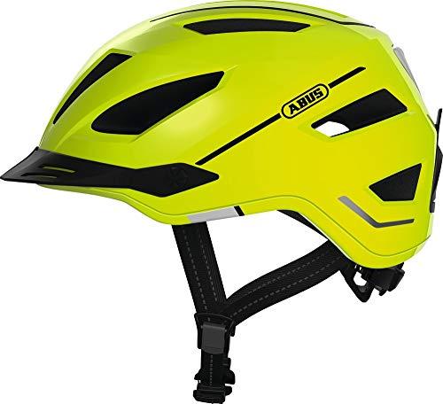 ABUS Pedelec 2.0 Stadthelm - Hochwertiger E-Bike Helm mit Rücklicht für den Stadtverkehr - für Damen und Herren - 81922 - Gelb, Größe M