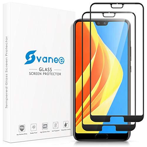 Svanee Verre Trempé pour Huawei P20 Pro, [Lot de 2] [Couverture Complète] [Anti-Rayures], Film Protection Écran Vitre HD compatible avec Huawei P20 Pro