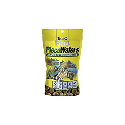Tetra PRO PlecoWafers 5.29 Ounces, Nutritionally Balanced Vegetarian Fish Food, Concentrated Algae Center (16448)