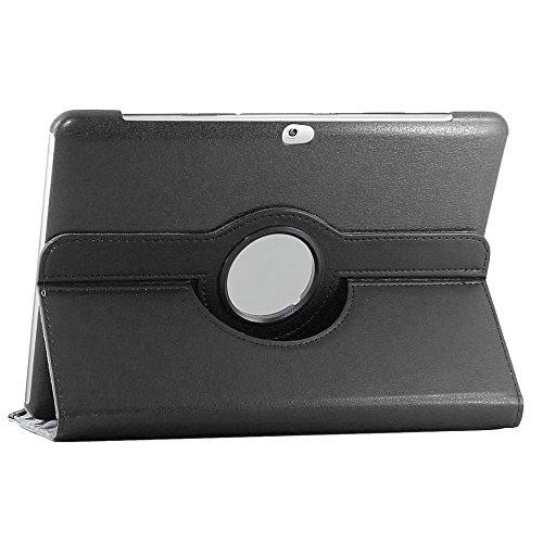 ebestStar - kompatibel mit Samsung Galaxy Tab 2 10.1 Hülle GT-P5110 P5100 Rotierend Schutzhülle Etui, Schutz Hülle Ständer, Rotating Hülle Cover Stand, Schwarz [Tab: 256.6 x 175.3 x 9.7mm, 10.1'']