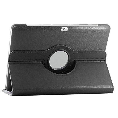 ebestStar - compatible with Samsung Galaxy Tab 2 10.1 Rotating Case GT-P5110 P5100 PU Leather Protective Cover 360 Degree Stand, Black [Tab: 256.6 x 175.3 x 9.7mm, 10.1'']