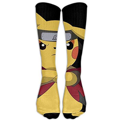 HNJZ-GS Pikachu & Naruto Frauen Rohr Kniehohe Strümpfe Cosplay Socken
