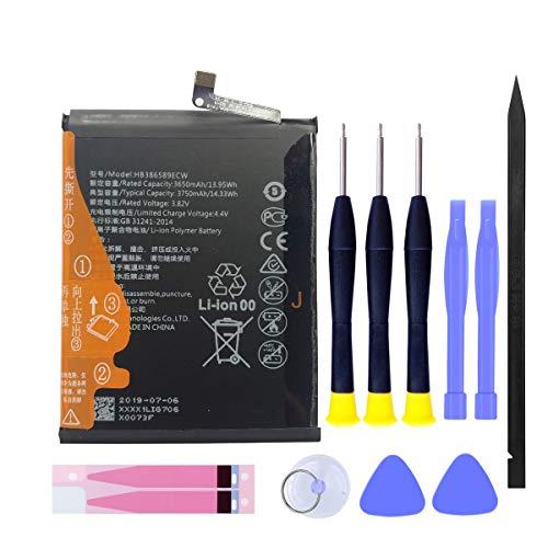 MUKUZI Huawei P10 Plus バッテリー Mate 20 lite/Nova 3 互換 バッテリー HB386589ECW 電池 3.82V 3750mAh 贈り物を贈る 据え付け道具