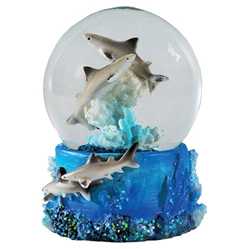 Water Globe - Shark from Deluxebase. Shark Snow Globe with Resin Figurine and Moulded Base. Great home decor, ornaments and gifts.