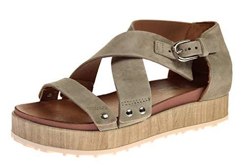 Mjus M06016-201-0001 - Damen Schuhe Sandaletten - kaki-beige, Größe:39 EU