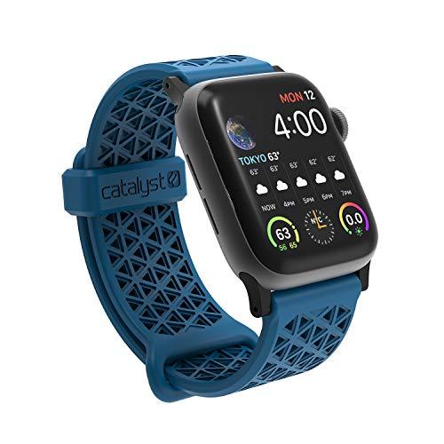 Catalyst Cinturino in Silicone Ipoallergenico (22mm) per Apple Watch 40mm y 38mm, per Apple Watch Series 5,4,3,2,1 - Blueridge Sunset