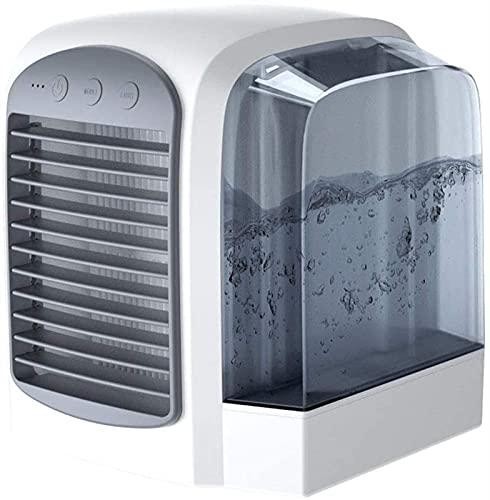 Mini acondicionador de Aire portátil Humidificador Purificador USB Desktop Air Cooler Fan con Tanques de Agua Inicio, Gris Frio