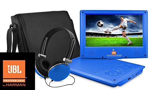 Great Deal! Ematic Portable DVD Player with JBL Audio, 7-Inch Swivel Screen, Headphones and Travel B...