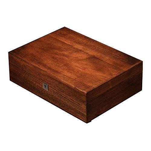 GenericBrands Luxus Herrenuhr Box, Spielautomat Uhr Holzbox abschließbare Schmuck Armband Sammlung Aufbewahrungsbox