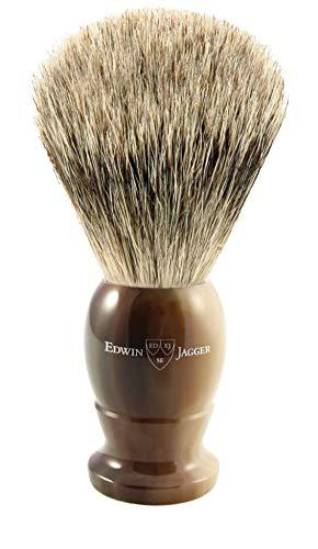 Edwin Jagger de tejón Best Badger con nudo 21mm y mango de asta