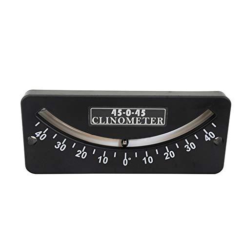 hehsd0 Mini Inclinometer 25-0-25 45-0-45 Voor Boot Shatter Proof Tilt Gauge Helling Meter Hoek Indicator Locator Accessoires Dual Scale Protractor Tool Instrument Nauwkeurig Draagbaar(1)